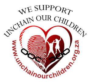 unchain our children support badge